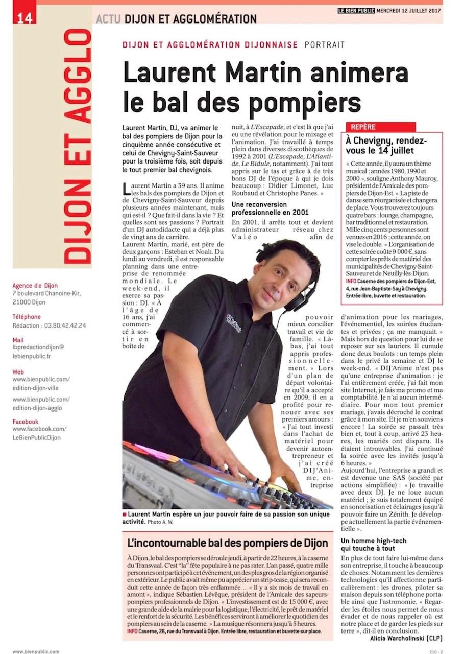 Dans le journal Le Bien Public.
