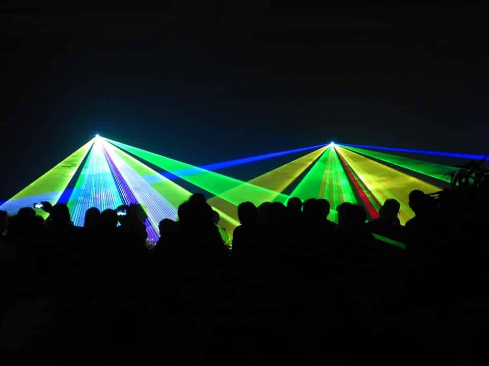 Show laser multicolor