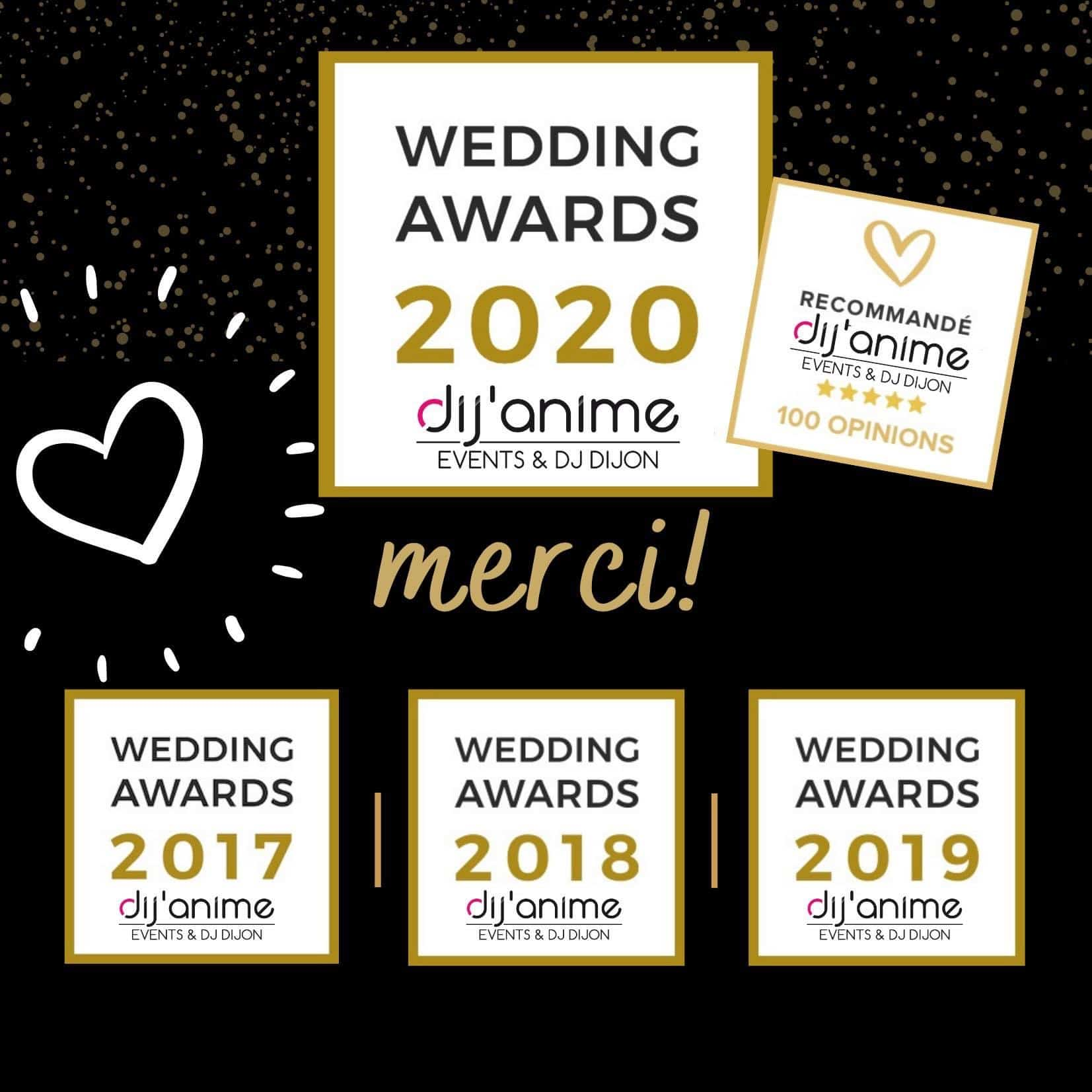 Les Wedding Awards 2016, 2017, 2018, 2019, 2020.